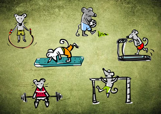 The Mice Athletes (illustration by Ani Kostova)