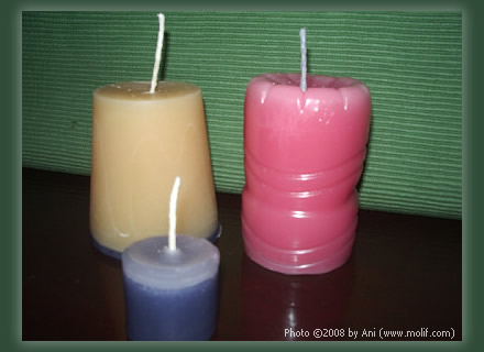 Candles (home-made