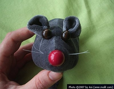 The plush mouse
