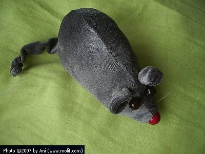 The plush mouse in its full beauty