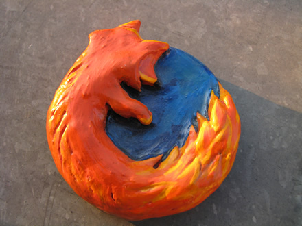 Firefox logo from clay
